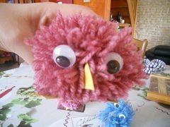Oiseau pompon centerblog - Poussin en pompon ...